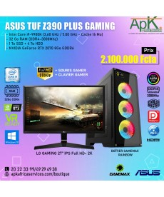 Asus Tuf gaming plus intel core i9-9900K - 32Go RAM - 1To SSD + 4To HDD - NVIDIA GeForce RTX 2070 8Go GDDR6