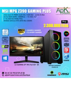 MSI MPGZ 390 Gaming plus intel core i9-9900K - 64Go RAM - 2To SSD - NVIDIA GeForce RTX 2070 8Go GDDR6