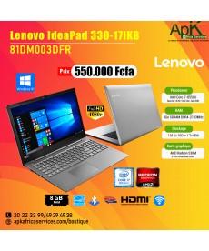 Lenovo IdeaPad 330-17IKB (81DM003DFR) INTEL CORE I7-8550U 8 GO SSD