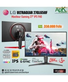 LG 27GL650F-B Moniteur Gamer IPS UltraGear ™ Full HD 27 pouces avec G-Sync® compatible, Adaptive-Sync
