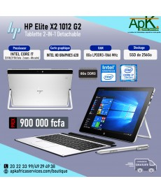 HP Helite X2 1012 G2- Intel core I7- 8Go RAM LPDDR3 - 256Go SSD - INTEL HD X Graphique 620