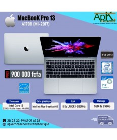 MacBook pro 13 A1708- Intel core I5 - 8Go RAM LPDDR3- 256Go SSD - INTEL Iris Plus Graphics 640