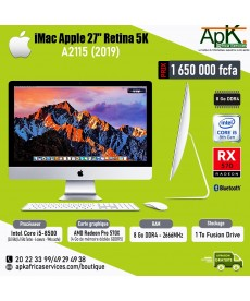 "IMac Apple 27""- Ecran Retina 5K-A2115 (2019) Intel core I5 - 8Go RAM DDR4- 1To Fusion Drive - AMD Radeon Pro 570X"