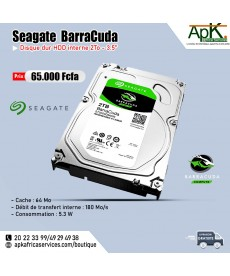 Seagate BarraCuda 2 To - HDD Interne