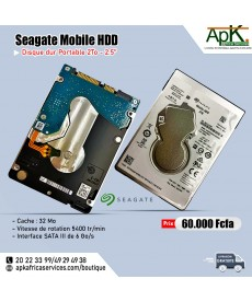 Seagate Mobile HDD  2To- Portable