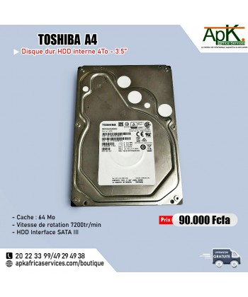 Toshiba A4- HDD 4To - interne-3.5''