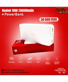 Power Bank Redmi - 18W- 2000 mAh- Version de Charge Rapide