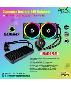 GameMax Iceberg- 240- Rainbows- Refroidisseur à liquide Tout en Un