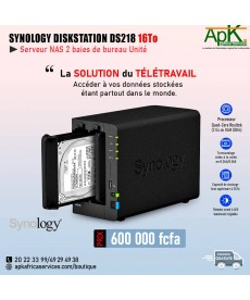 Synology DiskStation DS218-Processeur Quad core- 16To
