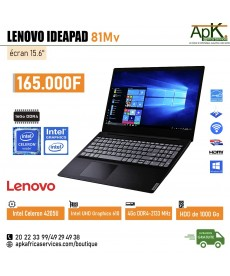 Lenovo Ideapad 81Mv-Intel Celeron 4205U- 4 Go de RAM DDR4-1000Go HDD - Intel UHD Graphics 610-Windows 10
