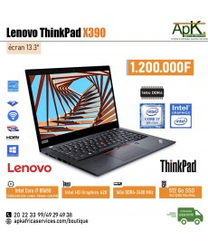 Lenovo Thinkpad X390 -Core I7- 16Go de RAM DDR4-512Go SSD - Intel HD Graphics 620-w10