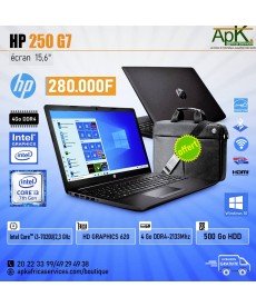 HP 250 G7-Core I3- 4 Go de RAM DDR4-500 Go HDD - UHD Graphics 620-Win10