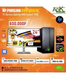 HP PAVILION 690-0067C- AMD Ryzen7-1700- 16 Go RAM DDR4- 1000Go HDD - NVIDIA GTX1050Ti-4Go-GDDR5