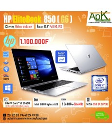 "HP EliteBook 850 G6 -Intel Core i7-8565U-8 Go RAM DDR4-SSD (M.2) PCIe 512 Go-15.6"" LED Full HD  Win10"