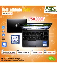 "Dell Latitude 5500 -Intel Core i7-8665U- RAM 8 Go DDR4-SSD 256 Go-15.6"" Full HD-Win10 Pro"