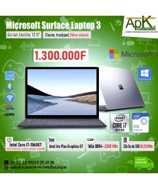 "Microsoft Surface Laptop 3- Ecran Tactile 13.5""-Intel Core i7 1065G7-16Go RAM DDR4-Stockage 256 Go SSD - Win10"
