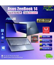 """ASUS Zenbook 14-AMD Ryzen 7 3700U-RAM DDR4 8Go-SSD 512 Go (M.2) NVMe PCIe-14"""" LED Full HD-Win10 Pro"""