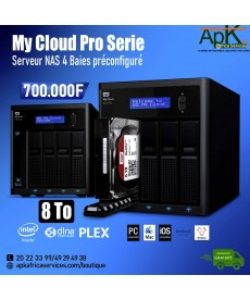 WD 8 To My Cloud Pro Serie- Serveur NAS 4 Baies Préconfiguré - 8To