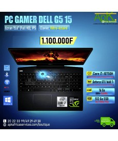 "Dell G5 15-Core I7-10750H 16 Go DDR4- 512Go SSD 15.6"" LED Full HD 300 Hz-NVIDIA GeForce GTX 1660Ti 6 Go-Win10"