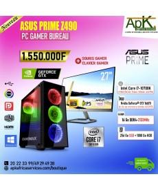 ASUS PRIME Z490-Intel Core i7 10700K-16 Go RAM DDR4- 256Go SSD + 1000Go HDD - NVIDIA GTX 1660Ti 6Go GDDR5-Win10