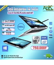Dell Inspiron 14 5491-Core i7 10510U -8Go de RAM DDR4-512Go SSD(M.2) PCIe- Intel UHD Graphics 620-Ecran 14-Win10 Pro