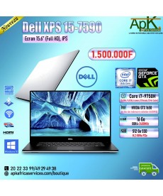 Dell XPS 15 7590-Core i7 9750H - 16 Go de RAM DDR4-512Go SSD(M.2) PCIe- NVIDIA GTX 1650 4Go-Win10 Pro
