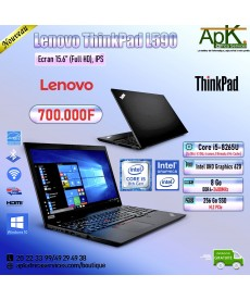 "Lenovo ThinkPad l590-Core I5-8265U-8 Go DDR4-256 Go SSD 15.6""  Full HD -Intel UHD Graphics 620-Win10"