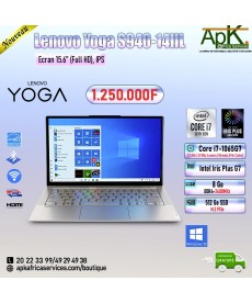 "Lenovo Yoga S940-14IIL-Core I7-1065G7-8 Go DDR4-512 Go SSD 15.6""  Full HD -Intel Iris Plus G7-Win10"