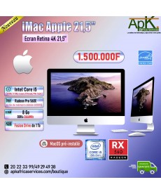 IMac Apple 21.5''-Ecran Retina 4K -Core I5-8 Go DDR4-Fusion Drive 1To-Radeon Pro 560X 4Go-Win10