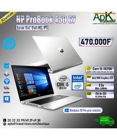 HP Probook 450 G7-Core I5 10210U- 8 Go de RAM DDR4- 256Go SSD - Intel UHD Graphics 620-Win10 Pro Préinstallé