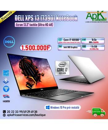 Dell XPS 15 7390-Core i7 10510U - 16 Go de RAM DDR4-1To SSD(M.2) PCIe-Intel UHD Graphics-13.3'' tactile-Win10 Pro préinstallé