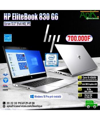 HP EliteBook 830 G6-Core I5- 16Go de RAM DDR4-256 SSD - Intel UHD Graphics 620-Ecran 13.3''Win10 Préinstallé