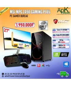 MSI MPG Z490 GAMING PLUS-Core I7 10700K-32Go DDR4- 1To SSD + 2To HDD-NVIDIA RTX 2060 SUPER 8Go- souris+Clavier Gamer.