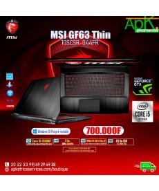 MSI GF63 Thin 10SCSR-044FR-Intel Core i5-10300H- 8 Go SSD- 512 Go 15.6