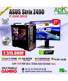 ASUS Strix Z490-Intel Core i7 10700K-64 Go RAM RGB DDR4- 1To SSD + 4To HDD - RTX 2080 SUPER ROG STRIX 8Go GDDR6