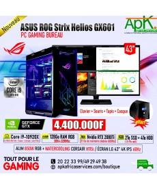 ASUS ROG Strix Helios GX601 -Intel Core i9 10920X-128 Go RAM RGB DDR4- 2To SSD + 4000Go HDD - RTX 2080Ti 11Go GDDR6-ECRAN 43''