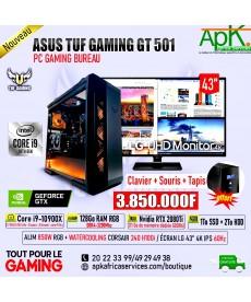 ASUS TUF GAMING GT 501-Core i9 10900K-128 Go RAM RGB DDR4- 1To SSD + 2To HDD -NVIDIA RTX 2080Ti 11Go GDDR5-ECRAN LG 4K 43''