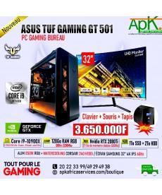 ASUS TUF GAMING GT 501-Core i9 10900X-128 Go RAM RGB DDR4- 1To SSD + 2To HDD -NVIDIA RTX 2080Ti 11Go GDDR5-ECRAN LG 4K 32''