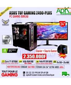ASUS TUF GAMING Z490 PLUS-Core I7 10700K-32 Go RAM DDR4 -256 Go SSD + 2To HDD - NVIDIA GTX 1660 Ti 6Go GDDR6