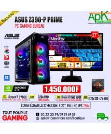 ASUS Strix Z390 P- PRIME RYZEN 7 3700X-32 Go RAM DDR4- 512 Go SSD + 2To HDD - GTX 1660 SUPER 6Go GDDR6- ECRAN 27''