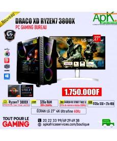 BOITIER DRACO XD RYZEN7 3800X -32Go RAM DDR4- 512 Go SSD+ 2To HDD- RADEON RX 5700XT THICC II 8Go GDDR6- ECRAN LG 4K 27''