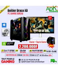 BOITIER DRACO XD- Core i7 10700K -32Go RAM DDR4- 1To SSD+ 2To HDD- Nvidia RTX 2060 SUPER 8Go GDDR6- ECRAN LG Ultrafine 4K 27''