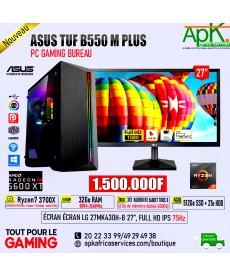 ASUS TUF B550M-PLUS- PRIME RYZEN 7 3700X-32 Go RAM DDR4- 512 Go SSD + 2To HDD - RADEON RX 5700XT THICC II 6Go GDDR6