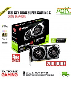MSI GTX 1650 SUPER GAMING X- CARTE GRAPHIQUE- 4Go GDDR6