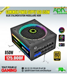GAMEMAX POWER SUPPLY RGB 850W- Bloc d'Alimentation Modulaire