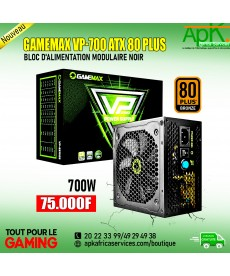 GAMEMAX VP-700 ATX 80 PLUS-Bloc d'alimentation Modulaire