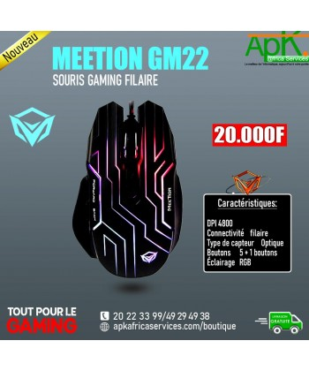 MEETION GM22- SOURIS GAMING FILAIRE
