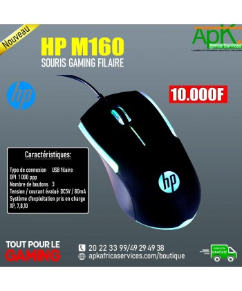 HP M160- SOURIS GAMING FILAIRE