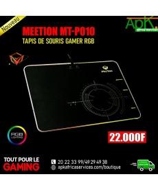 MEETION MT-P010-TAPIS DE SOURIS GAMER rétroéclairé par LED RVB