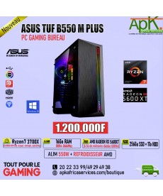 ASUS TUF B550 M PLUS-RYZEN 7 3700X-16Go RAM DDR4-256Go SSD+1To HDD -AMD RADEON RX 5600XT 6Go GDDR6